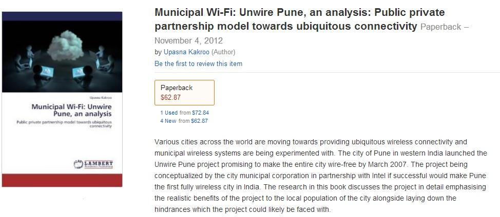 Municipal Wi-Fi: Unwire Pune , Upasna Kakroo