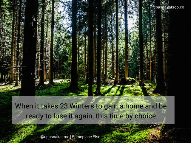 23 winters in review someplace else finding home