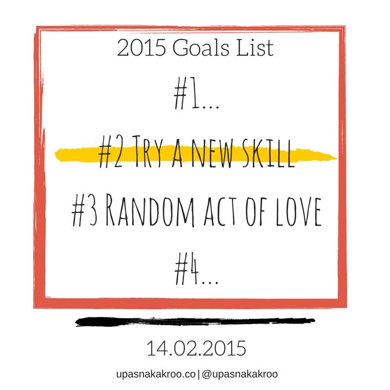 Finding Fanny 2015 Goals List