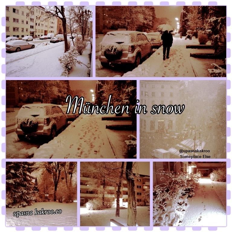 Munich in snow in 2015